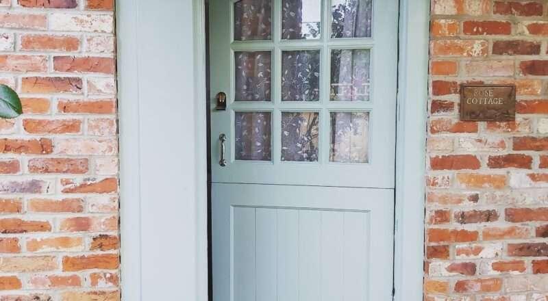 Front door of Rose cottage